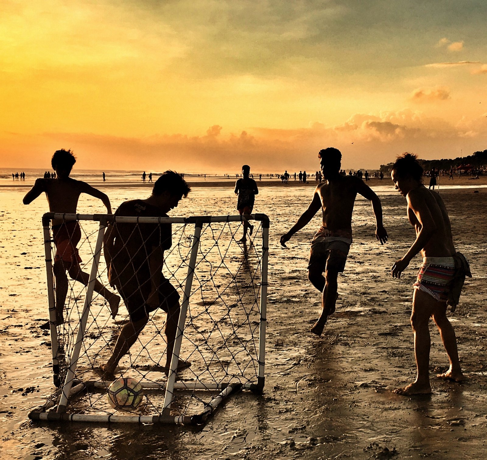 Beach football in Bali - Ali G Studios