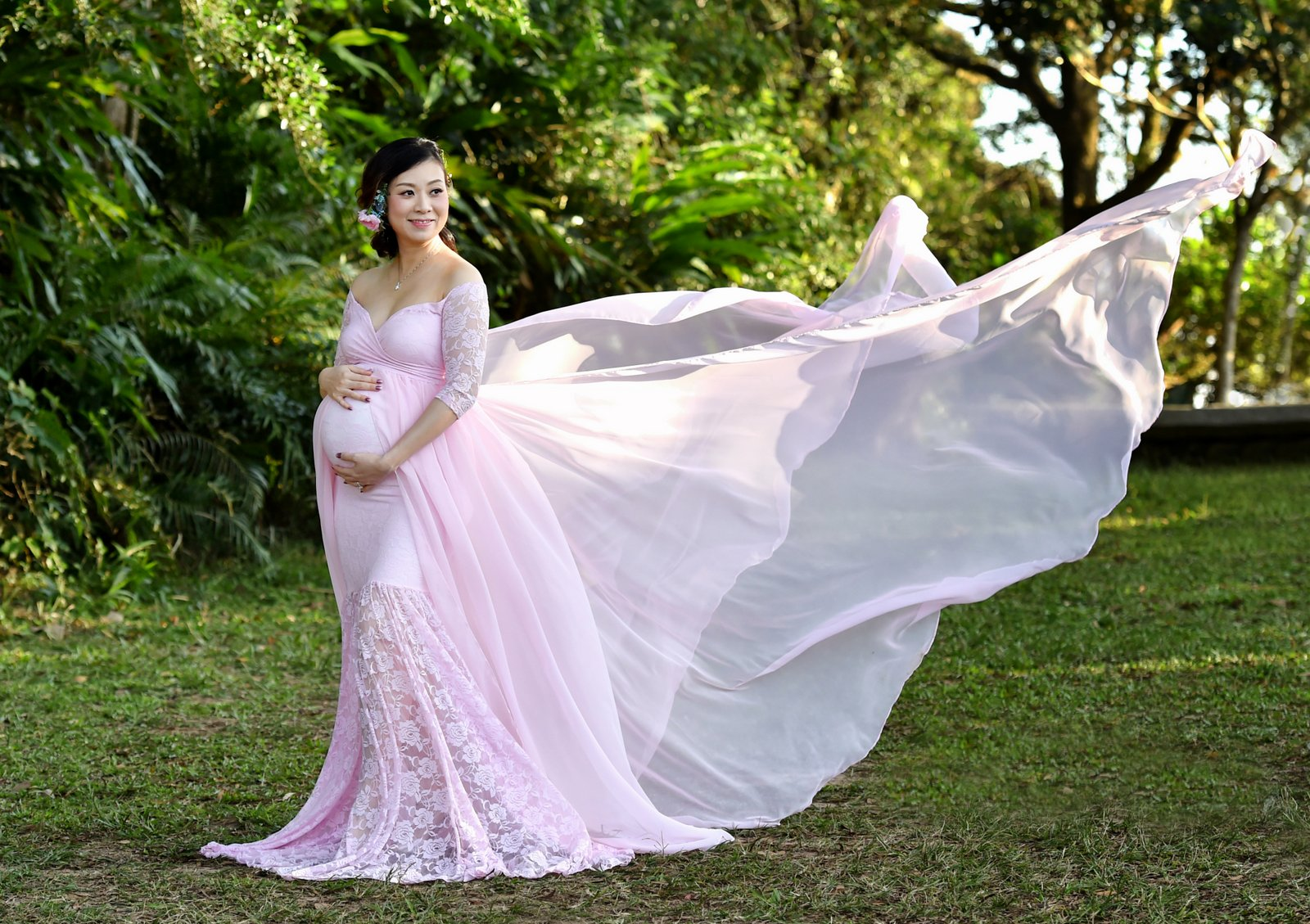 Maternity Photo Shoot, Hong Kong, Ali G Studios